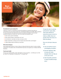 Safety Health Flyer